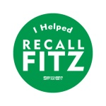"Tell the world ""I helped RECALL FITZ!"""